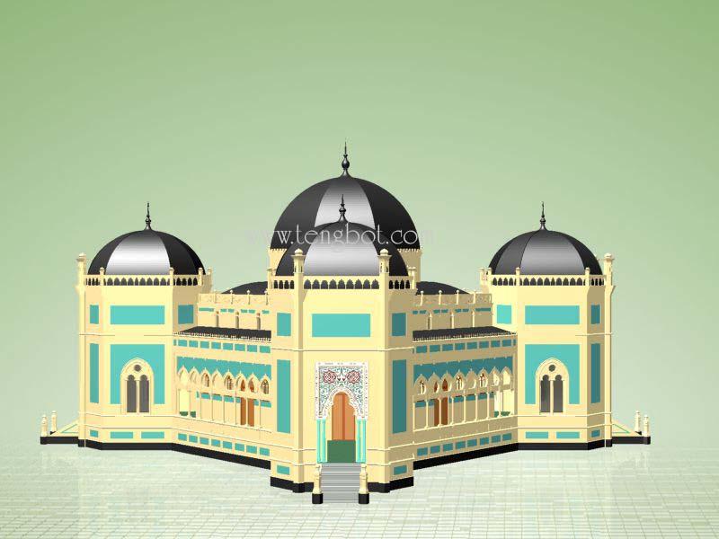 Actual Size General Gambar Model Masjid Raya Mashun Medan