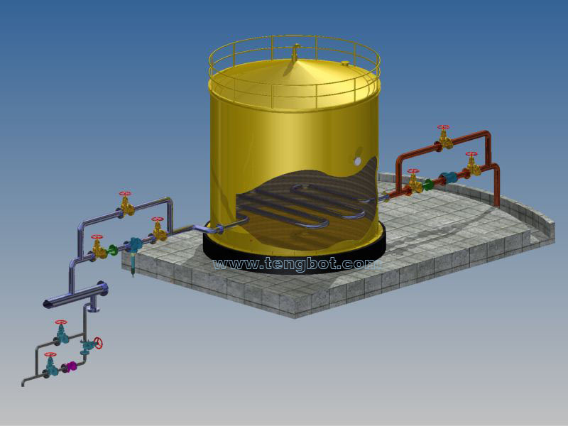 storage tank installation