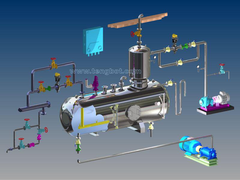 dearator valve installation