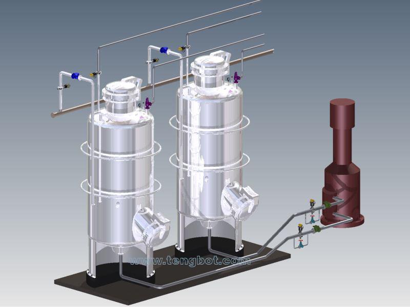 vertical sterilizer installation
