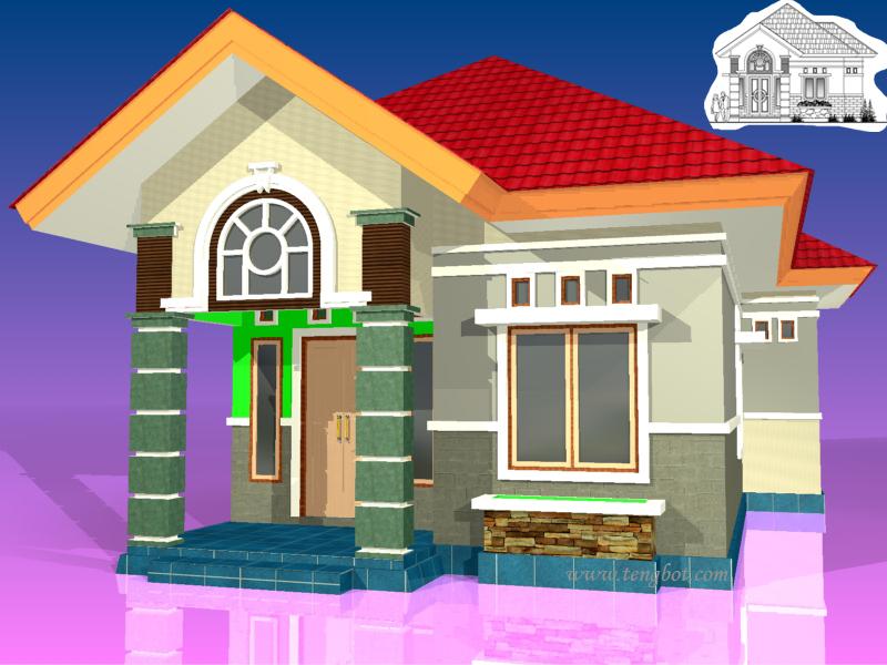 Contoh Gambar Rumah 3 Dimensi
